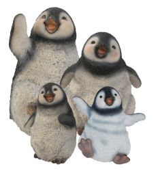 Happy Penguin Gang Ornament Set