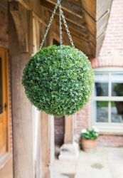30cm - Artificial Topiary Ball with Herbaceous Effect