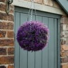 30cm - Artificial Topiary Ball with Pink Heather Effect