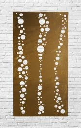 Decorative Garden Fencing Panel With Bubble Pattern in Corten Steel 5ft10in
