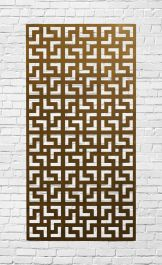 Decorative Garden Fencing Panel With Moroccan Pattern in Corten Steel 5ft10in