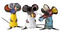 Three Blind Mice Recycled Steel Ornament Set