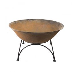 100cm Cast Iron Planter/Pond in a Pot/Fire Bowl/Brazier with Stand
