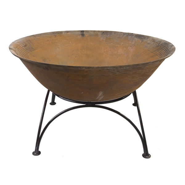 120cm Cast Iron Planter/Pond in a Pot/Fire Bowl/Brazier with Stand