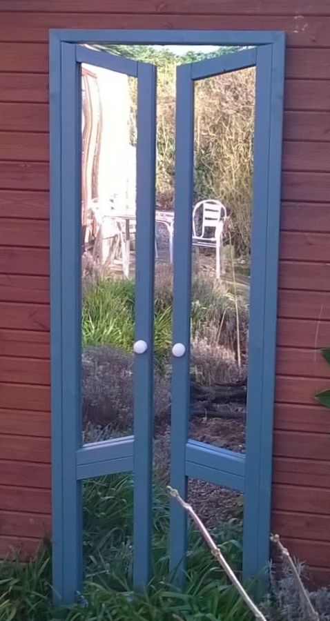 6ft x 2ft 1in Illusion Mirror French Doors Ajar