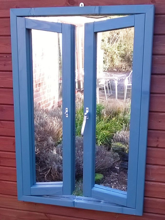 3ft 2in x 2ft 2in French Window Ajar Mirror