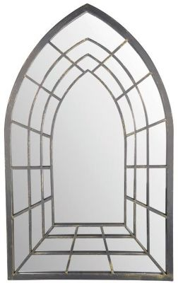 2ft 8in x 1ft 7in - Decorative Gothic Illusion Outdoor Glass Garden Mirror