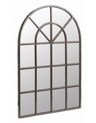 2ft 3in x 1ft 5in Urban Arched Modern Glass Garden Mirror