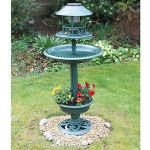 Solar Bird Bath & Feeder - Verdigris