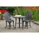 3 Piece Wenlock Bistro Set - Gun Metal Grey