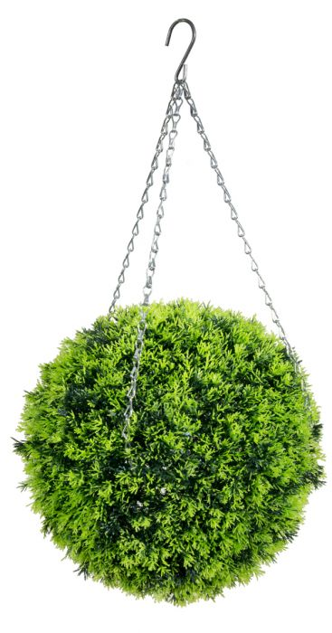 38cm Artificial Topiary Conifer Ball by Primrose™