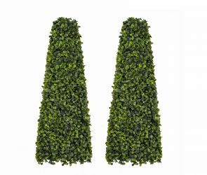 60cm Artificial Topiary Boxwood Obelisks by Gardman™