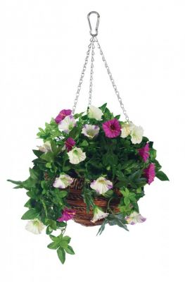 30cm Artificial Petunia Hanging Basket