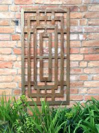 Rusty Steel Outdoor Screen - Box Maze