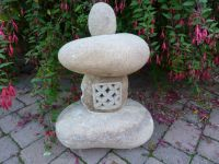 Natural Pebble Lantern with Latexed Window