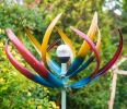 Spiritual Multi Coloured Solar Light Wind Spinner Dia 60cm