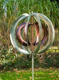 Horizon Verdigris Burnished Gold Wind Spinner Dia 75cm