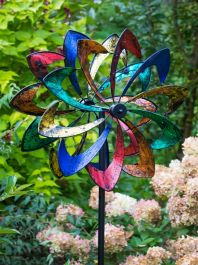 Rainbow Starlight LED Dynamo Wind Spinner Dia 61cm