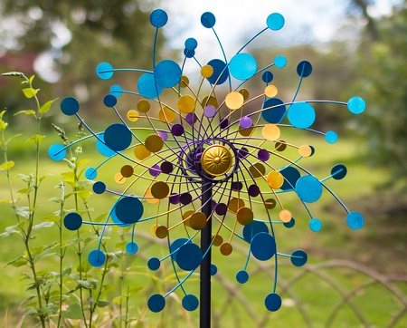 Colourful Eclipse Kinetic Wind Spinner Dia 60cm