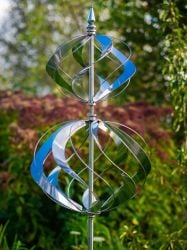 Spiral Stainless Steel Wind Spinner W64cm