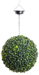 28cm Solar Powered LED Artificial Topiary Ball By Primrose™ - 'The Little Buxus Ball'