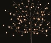 1.5m Warm White Outdoor Cherry Blossom Tree with 96 LEDs with Timer - Battery Operated