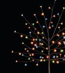 1.5m Multicoloured Outdoor Cherry Blossom Tree with 96 LEDs with Timer - Battery Operated