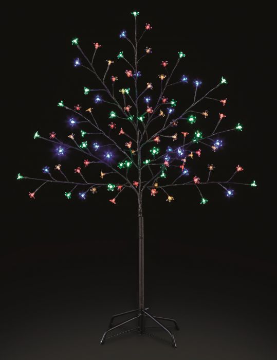 1.2M Multicoloured Outdoor Cherry Blossom Tree with 100 LEDs
