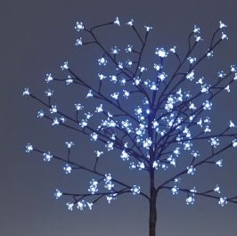 1.5M Blue Outdoor Cherry Blossom Tree with 150 LEDs