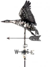 3D Stainless Steel Flying Duck Weathervane with Garden Stake