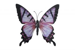 Metal Butterfly Wall Art - Pink/Black