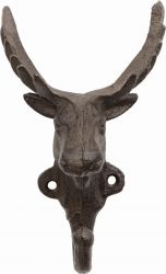 Moose Cast Iron Coat Hook