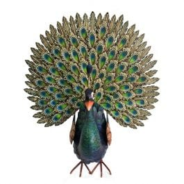 Deluxe Metal Peacock Garden Ornament