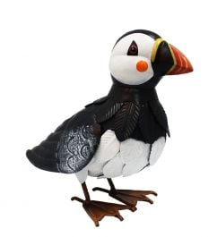 Metal Puffin Garden Ornament