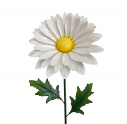 Outdoor Giant Metal Daisy Garden Stake