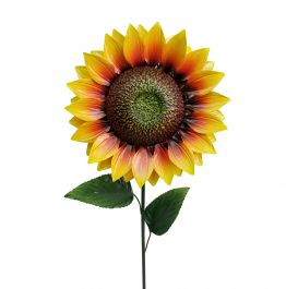 Outdoor Giant Metal Sunflower Garden Stake