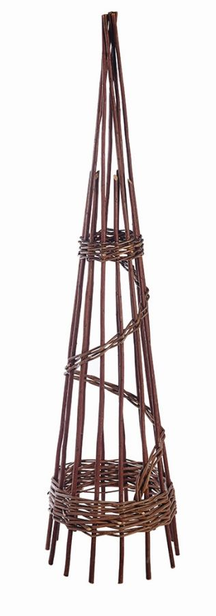 1.5m Willow Spiral Obelisk - by Gardman