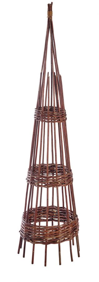 1.5m Willow Hoop Obelisk - by Gardman
