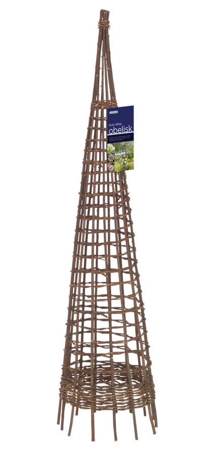 1.5m Rustic Willow Obelisk - by Gardman
