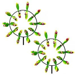 Fowey Tulip Metal Wind Spinner Twin Pack Dia82cm only at Primrose™