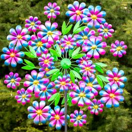 Arley Steel Flower Wind Spinner 73cm by Primrose™