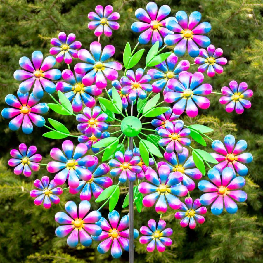Arley Steel Flower Wind Spinner 67cm by Primrose™