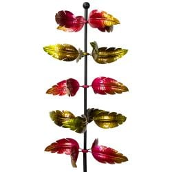 Aubrey Column Leaf Wind Spinner 82cm  by Primrose™