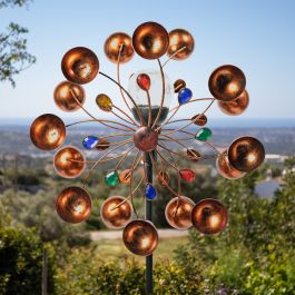 Burnham Wind Spinner with Gems Solar by Primrose™