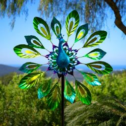 Peacock Metal Wind Spinner Dia 40cm by Primrose™