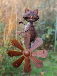 Cat Wind Spinner Dia 64cm