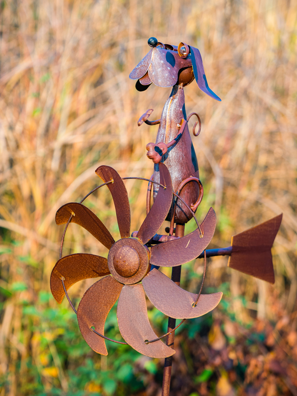 Dog Wind Spinner Dia 64cm
