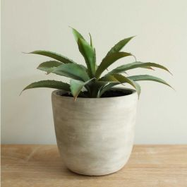 30cm Ceramic  Natural Planter With Artificial Succulent Plants