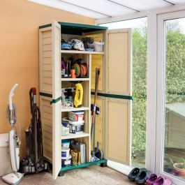 H1.87m (6ft 2in) Tall Plastic Garden Utility Store by Rowlinson®