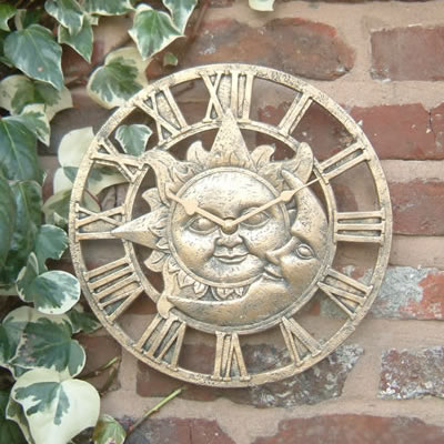 Roman Sun And Moon Outdoor Garden Clock 30cm 12 Quot 163 20 99